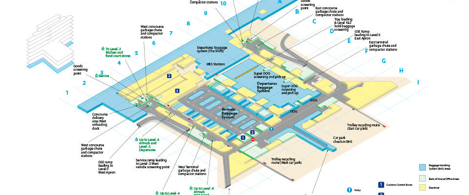 Dubai Airports Terminal 3 - Staff Mini Map
