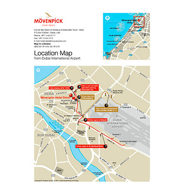 Movenpick Hotel location map