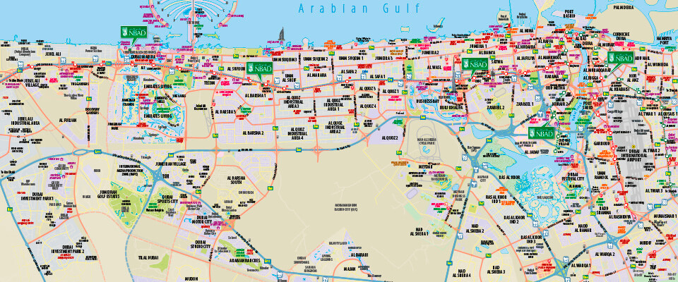 customised national bank of abu dhabi mini map