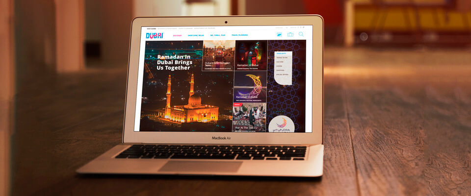 Content management for Dubai Tourism and Commerce Marketing