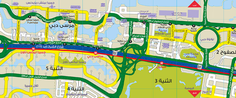 Jumeirah District - New Street Name Map