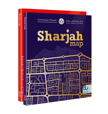 Custom emirate map for Sharjah Directorate of Town Planning & Survey