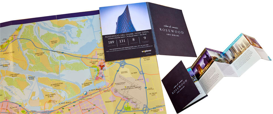 Rosewood Hotel customised Abu Dhabi Visitors' Map