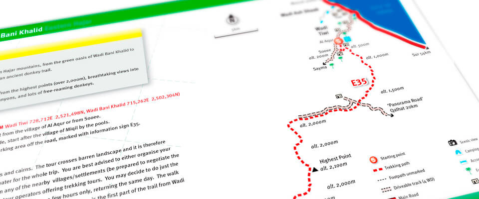 Oman Trekking routes and maps