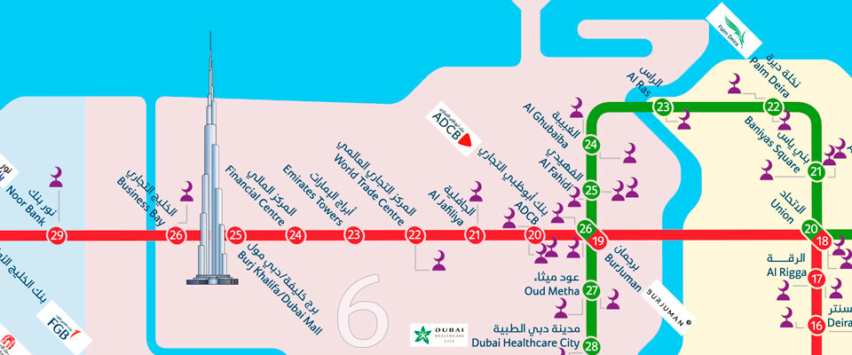 Dubai Metro Ramadan mosque map