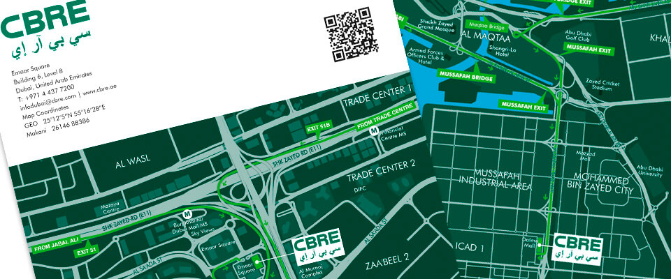 CBRE Office Location Map