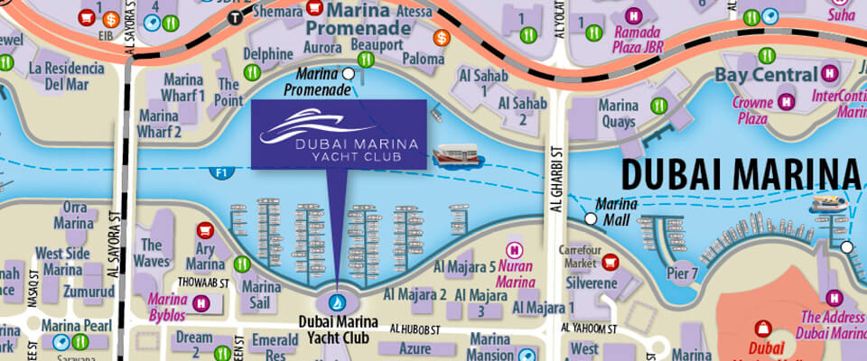 Dubai Marina Yacht Club Customised Map