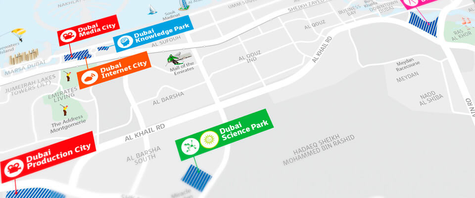 Dubai Creative Clusters Authority Location Maps