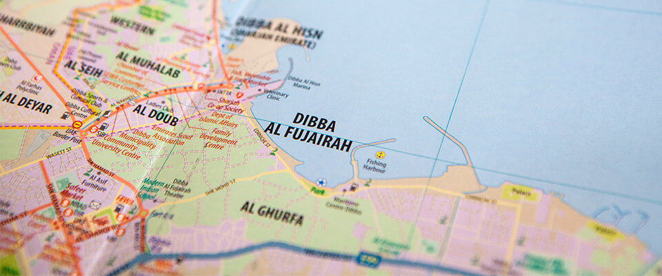 Fujairah East Coast Map Middle East Maps Atlases