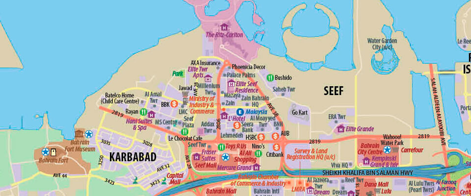Manama Wall Map