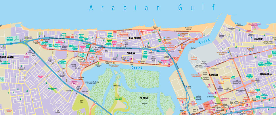 Ras Al Khaimah Wall Map All Products