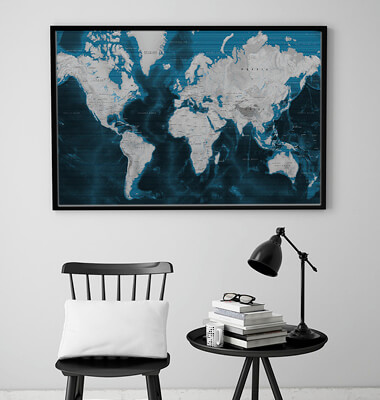 World Map (Canvas)