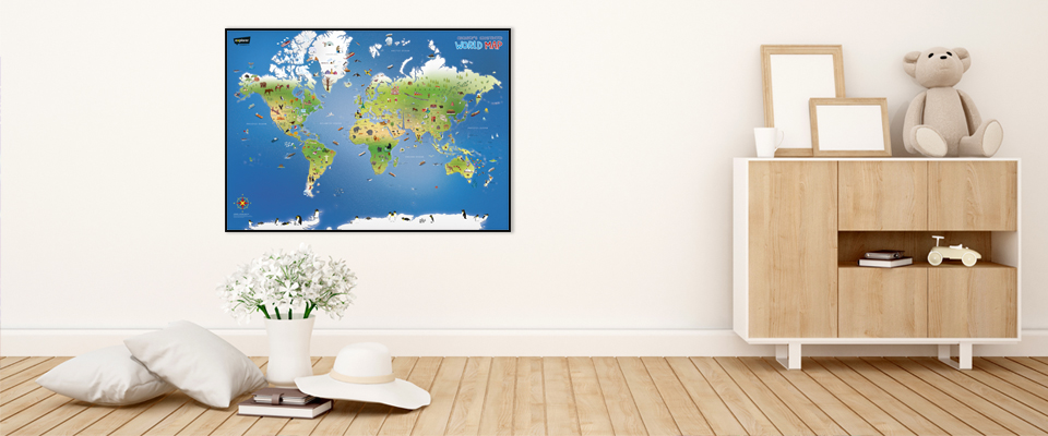 Children's Illustrated World Wall Map