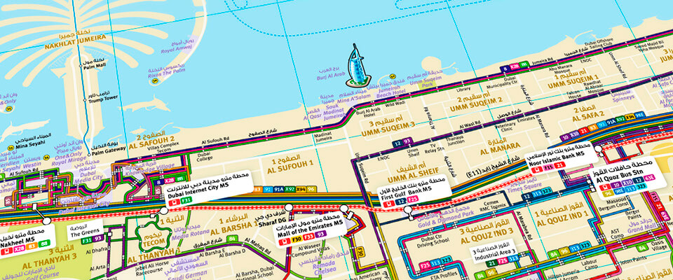 Dubai Integrated Network Route Map