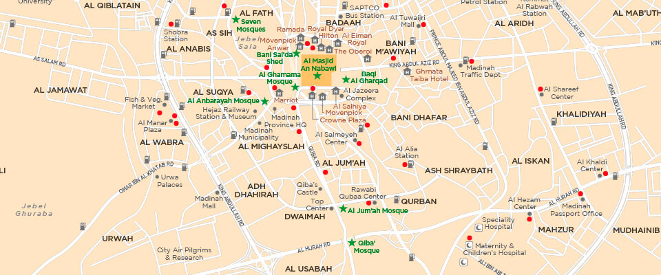 Map of Mh and Madina | Explorer Publishing Map Mekah on
